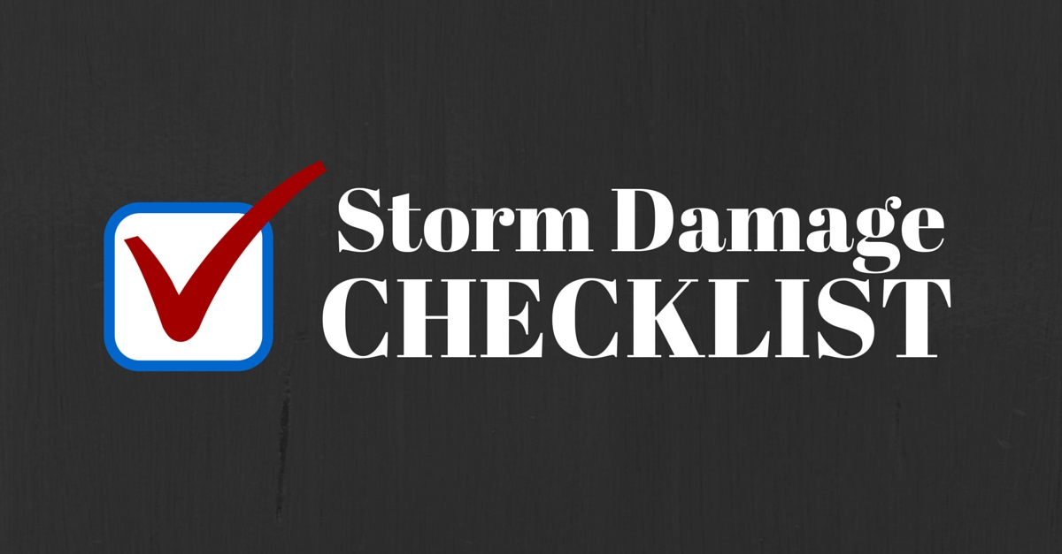storm damage checklist